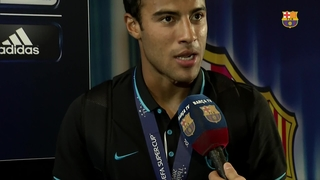 The players react to claiming Super Cup title