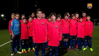 The FC Barcelona Infantil B side win Laureus Award 'Best Sporting Moment of the Year'