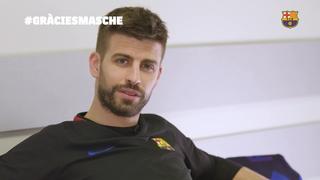 Els jugadors del Barça acomiaden Javier Mascherano