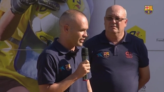 Andrés Iniesta inaugura un nou Cruyff Court a Fuentealbilla