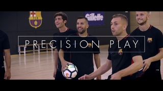 The Gillette's Precision Play challenge with Rakitic