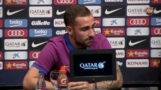 Roda de premsa presentació del nou jugador del primer equip, Paco Alcácer 2016/2017