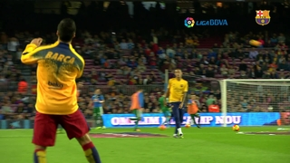 Suárez celebrates one year with FC Barcelona with a hat-trick