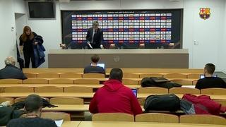 Roda de premsa posterior al FC Barcelona Lassa - Fenerbahce Dogus