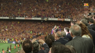 FC Barcelona celebrate Spanish Cup title
