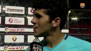 Las declaraciones de los jugadores después del partido de liga contra Osasuna