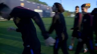Rafa Mújica torna als entrenaments amb el Barça B