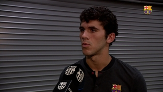 Aleñá, Cillessen and Vermaelen post-game reaction to the preseason clash with Manchester United