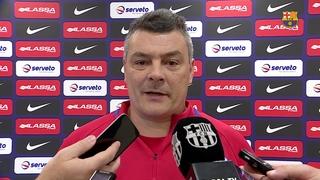 """Xavi Pascual: """"Juguem contra l'equip més en forma d'Europa"""""""