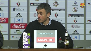 Luis Enrique a happy man after win in Pamplona