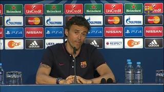 """Luis Enrique: """"L'equip és on volia ser a aquestes alçades"""""""
