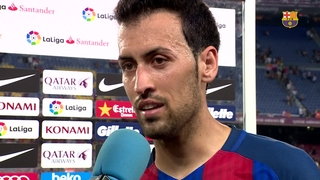 Sergio Busquets' reaction to Alavés defeat