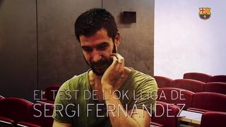 El test de l'OK Lliga amb Sergi Fernàndez