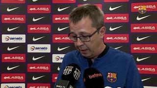Les declaracions d'Edu Castro abans del partit de Lliga contra l'Alcoi