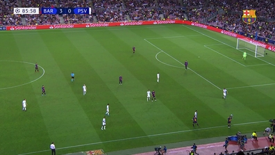 f00c2a966f9 Video thumbnail for Gol Leo Messi Barça - PSV Eindhoven (4-0) UEFA