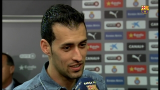 Sergio Busquets and Rafinha reflect on the win in the derby