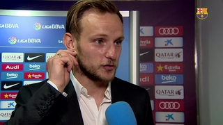 Rakitic reacts to derby win over Espanyol