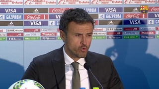 Luis Enrique says it was the game he wanted