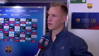 Ter Stegen and Gumbau reactions after beating Levante