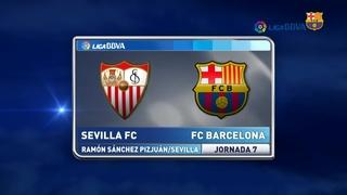 Sevilla FC 2 – FC Barcelona 1 (3 minutos)