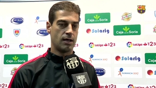 Las declaraciones de Gerard López después del partido de liga contra el Numancia