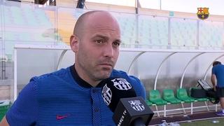 Las declaraciones de Gabri después del partido de la Youth League contra el Sporting Clube