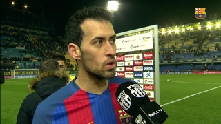 "Sergio Busquets: ""We won't give up"""