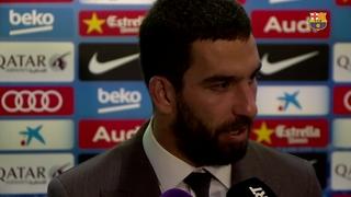 Arda Turan i Aleix Vidal valoren el 7-0 contra el València CF