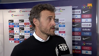 "Luis Enrique: ""A result that keeps us excited about the title run in"""