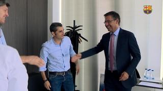 Ernesto Valverde visits the Ciutat Esportiva