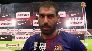 Las declaraciones de los jugadores tras el partido de liga contra el Lorca