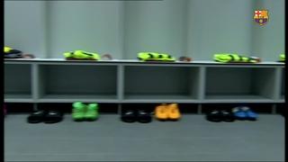 El vestidor del FC Barcelona al Vicente Calderón, a punt