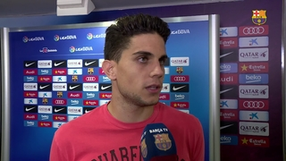 Bartra happy for the win but sad for Messi