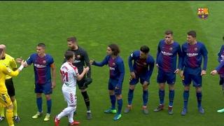 Highlights prèvia Barça B - Cultural Leonesa (0-1) J34 2a Divisió A 2017/2018