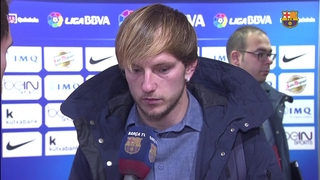 Rakitic reacts to victory in Bilbao