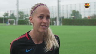 Declaracions Line Roddik Hansen, jugadora del Femení A 2017/2018