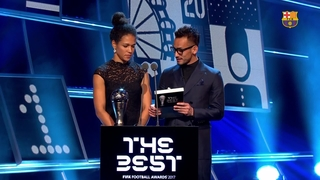 The announcement of Lieke Martens prize for The Best FIFA Women's Player 2017