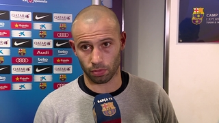 Javier Mascherano reaction to victory over Atlético