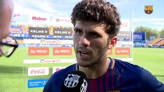 Les declaracions dels jugadors del Barça B després del partit de lliga a Alcorcón
