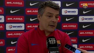 """Xavi Pascual: """"El canvi d'horari no vol dir que no haguem preparat el partit"""""""