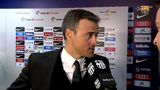 "Luis Enrique: ""Málaga are playing with a lot of confidence"""