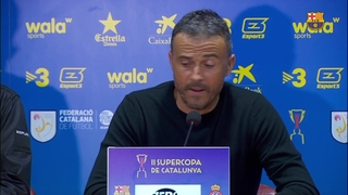 Luis Enrique happy with the team's effort