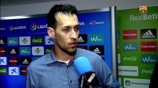 "Sergio Busquets: ""It's down to us and that is the most important thing"""