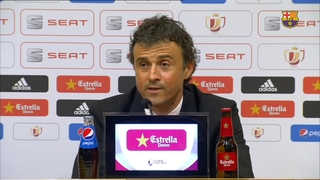 Luis Enrique says two down, one to go