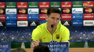 Messi all fired up ahead of Bayern clash