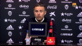 Luis Enrique has no complaints at all with draw against Valencia