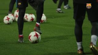 Últim entrenament abans del partit de Copa contra el Celta