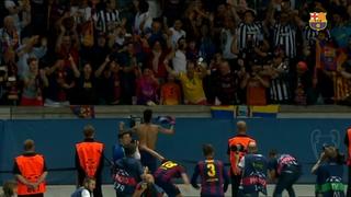 El FC Barcelona celebra la Champions