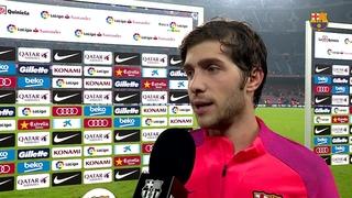 """Sergi Roberto: """"Hem dominat el partit i ells no han tirat a porteria"""""""