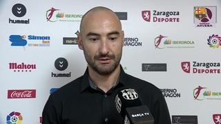 Les declaracions del Barça després de la victòria en el debut a la lliga a Saragossa